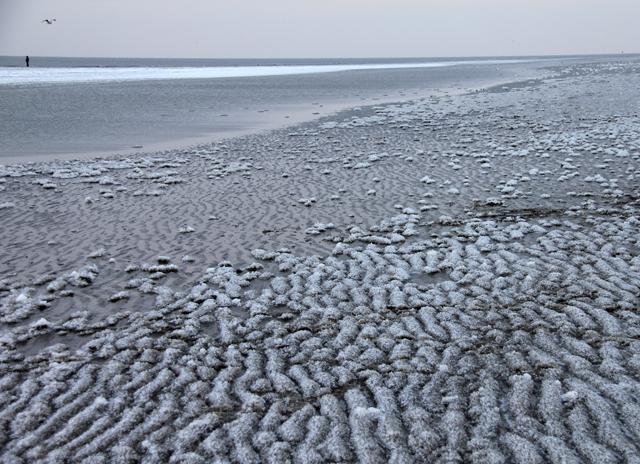 Gefrorener Strand von St. Peter-Ording
