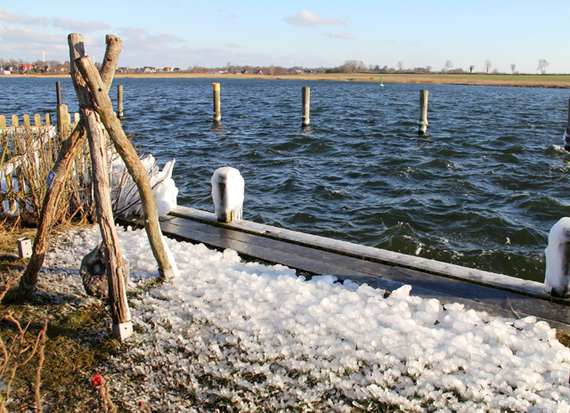 Eis an der Schlei bei Arnis